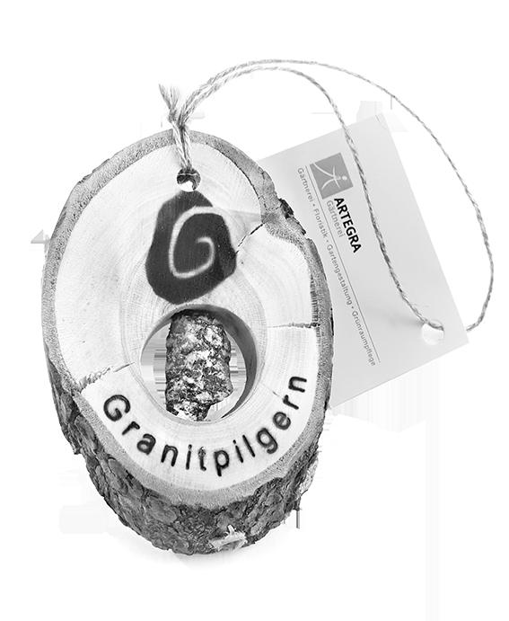Granitpilgern Souvenir Artegra Anhänger Holz und Stein